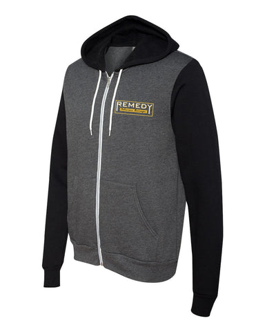 Remedy Unisex Hooded Sweatshirt (Black/Grey)