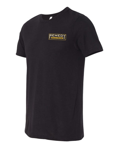 Remedy Unisex Crew Tee (Black)