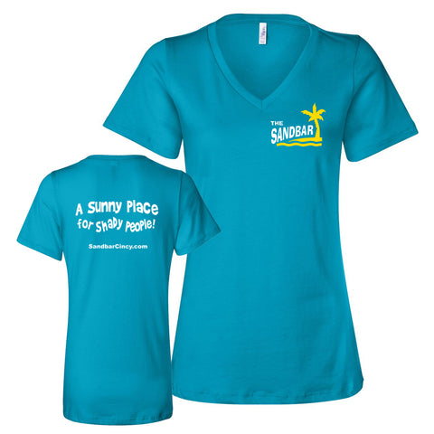 Sandbar Women's Soft Turquoise V-neck