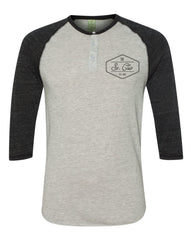 The St. Clair Raglan Henley (Black)