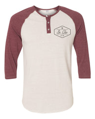 The St. Clair Raglan Henley (Burgundy)
