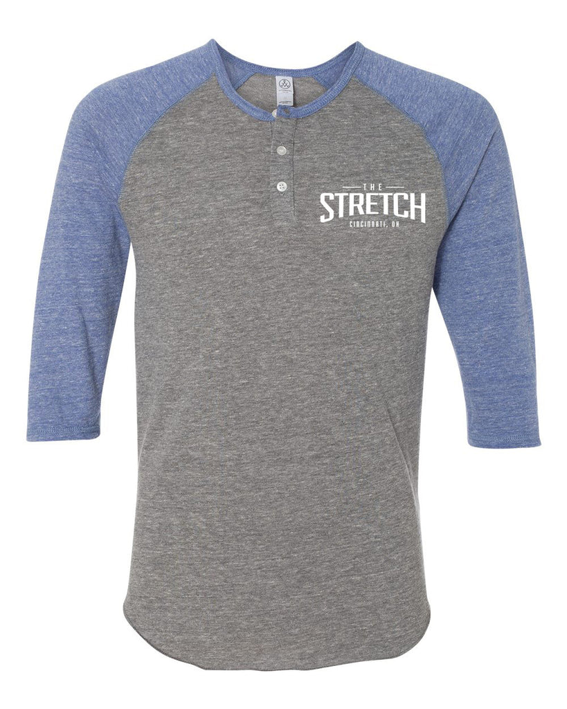 The Stretch Raglan Henley (Pacific Blue)