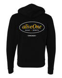 aliveOne Unisex Hooded Sweatshirt (Black)