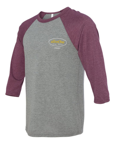 aliveOne Unisex Three-Quarter Sleeve (Maroon)