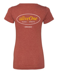 aliveOne Women's Short Sleeve Tee (Clay)