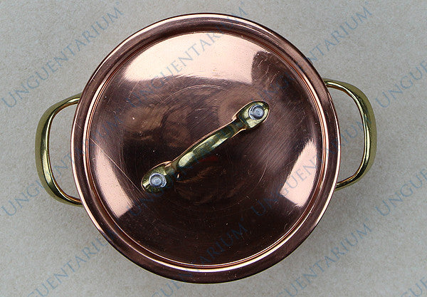 Copper Casserole, tinned with two brass handles Ø10cm, picture 02