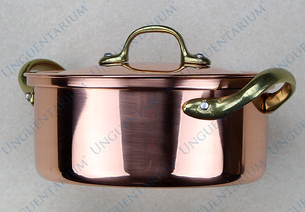 Copper Casserole, tinned with two brass handles Ø14cm, picture 3