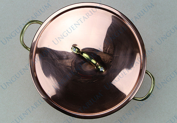 Copper Casserole, tinned with two brass handles Ø22cm, picture 02