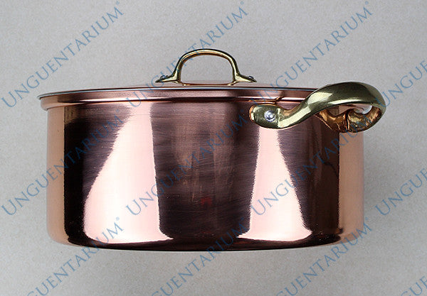 Copper Casserole, tinned with two brass handles Ø30cm, picture 03