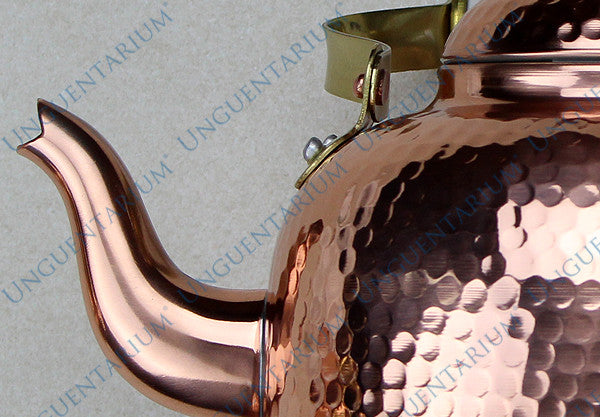 Hammered Granny's Tea Kettle, detail 3