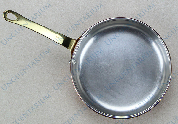 Tinned Copper Frying Pan with single brass handle Ø18cm, picture 1