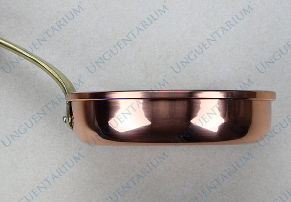 Tinned Copper Frying Pan with single brass handle Ø18cm, picture 2
