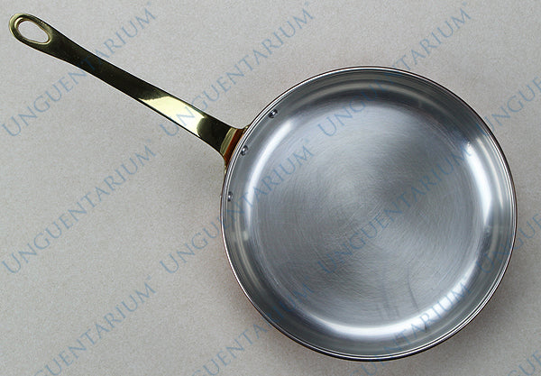 Tinned Copper Frying Pan with single brass handle Ø28cm, picture 1