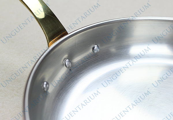 Tinned Copper Frying Pan with single brass handle Ø16cm, picture 4