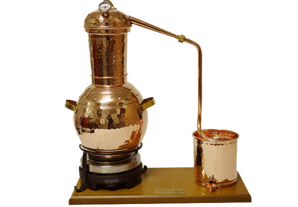2,5L Split Top Rotating Column Alembic Still Premium & Electric Plate Unguentarium