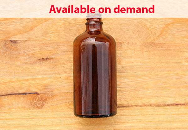 Amber Glass Bottle 100ml - DIN 18