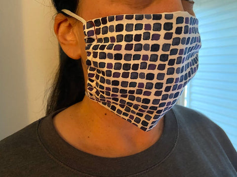 Washable Face mask with filter pocket and tie backs | USA made | Reusable | Triple layer cotton - Ships same or Next day!