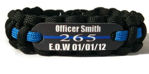 Fallen Officer EOW Memorial Bracelet