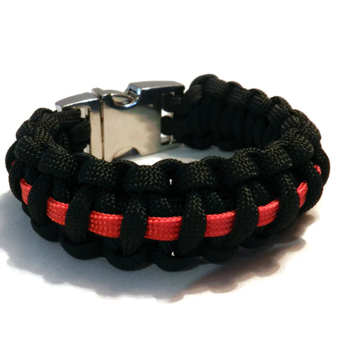 Thick Firefighter Thin Red Paracord bracelet