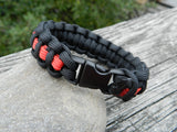 Just for Kids - My Grandpa is My Hero Thin Red Line Firefighter Paracord bracelet