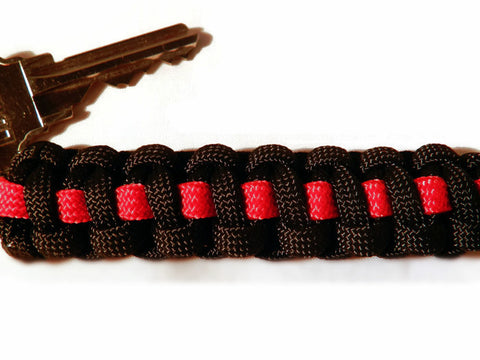 thin red line keychain by emsalerts.com