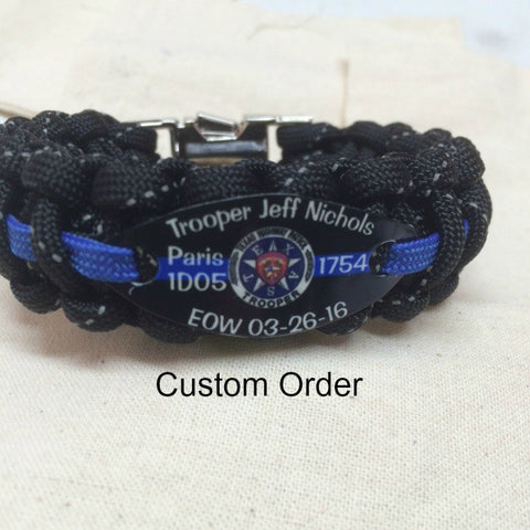 Trooper Jeff Nichols Memorial Bracelet