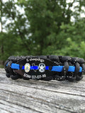 Texas E.O.W  Thin Blue Line bracelet