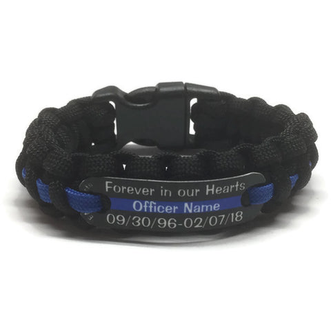 forever in our hearts police officer eow paracord bracelet