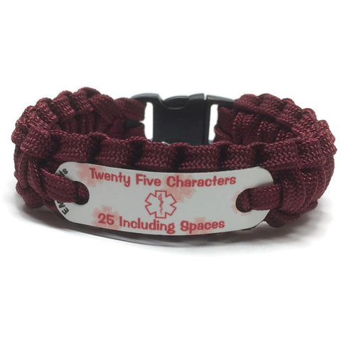 Custom 2 Line Medical Alert Bracelet EMSAlerts