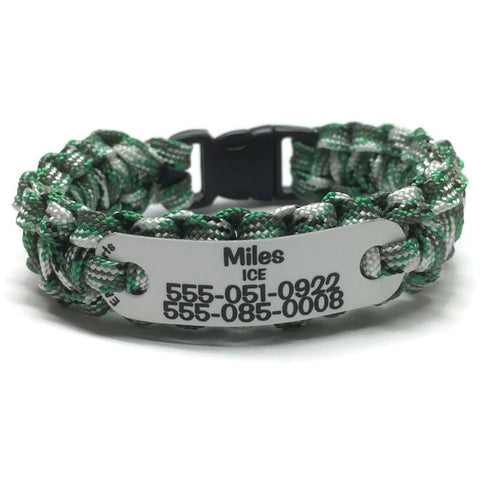 Safety ID Bracelet for Kids Altzheimers and Memory Loss Emergency Medical ID Custom Wrist ID Kids ID Bracelet SOS Bracelet Bicyclist Runner Jogger Swimmer Hiker Camper ID