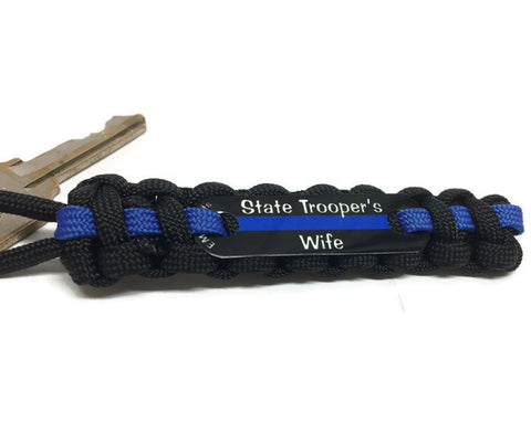 State Trooper's Wife or Girlfriend Paracord Key Chain