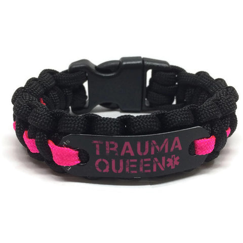Trauma Queen Paracord Bracelet in 6 Color Choices