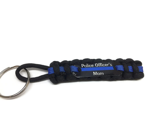 Police Officer's Mom or Dad Paracord Key Chain