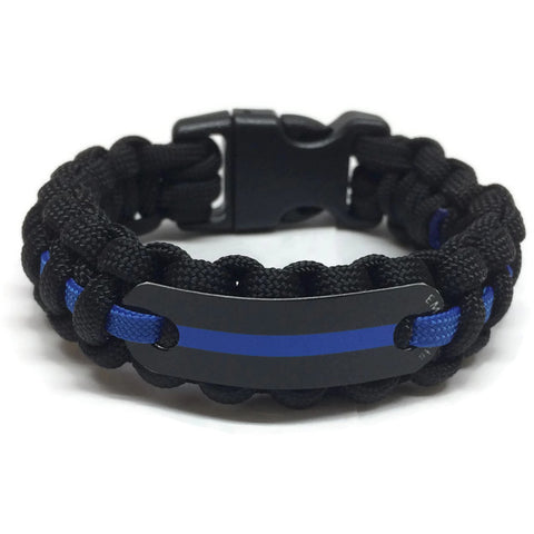 Correctional Officer Thin Blue Line Paracord Bracelet