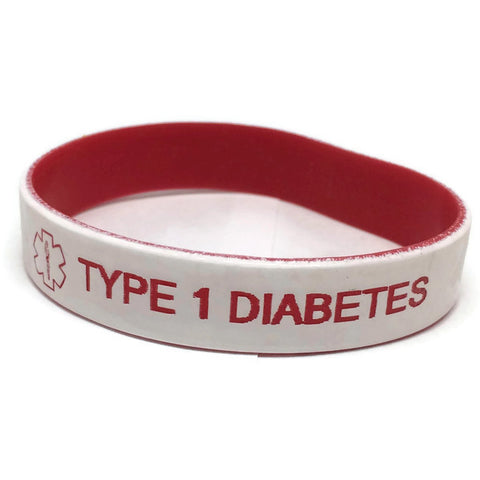 Type 1 Diabetes Silicone Medical Alert Bracelet