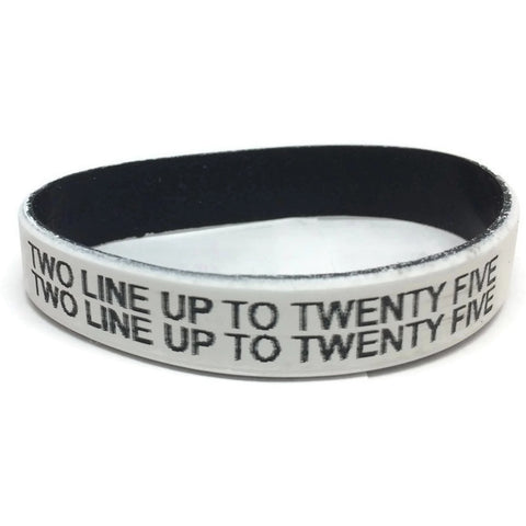 Custom 2 Line Silicone Medical Alert Bracelet