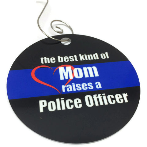 Mom/Dad Raised a Police Officer Ornament Christmas in July Sale
