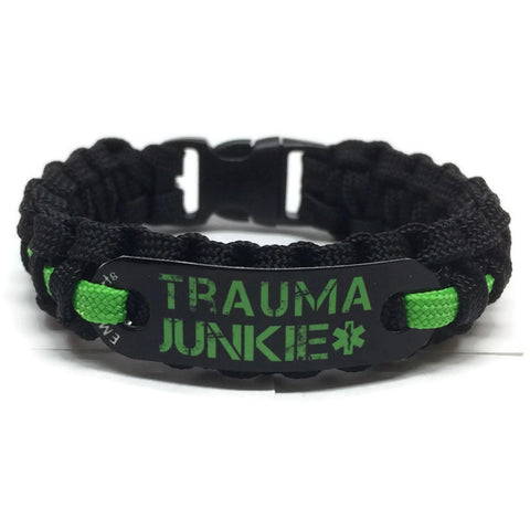 Trauma Junkie Paracord Bracelet in 6 Color Choices