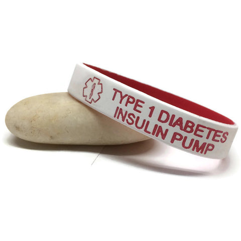 Type 1 Diabetes Insulin Pump Silicone Medical Alert Bracelet