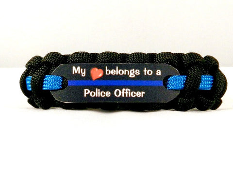 My Heart belongs to a Police Officer paracord bracelet
