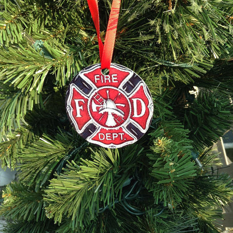 Maltese Cross Christmas Tree Ornament