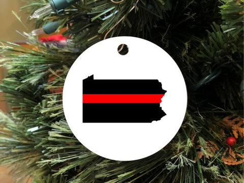 Firefighter Christmas Ornament - Choose Your State!