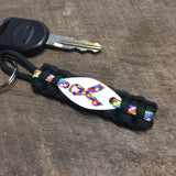 Ribbon Awareness - Autism Awareness Ribbon Paracord keychain