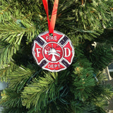 Firefighter Maltese Cross Christmas Ornament