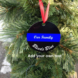 Personalized Ornament, Police Officer gifts, Personalized with your words
