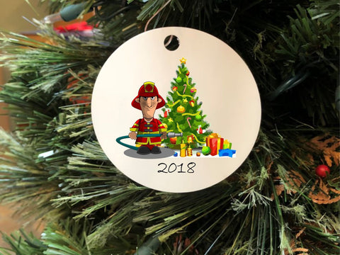 2018 Firefighter Christmas Ornament