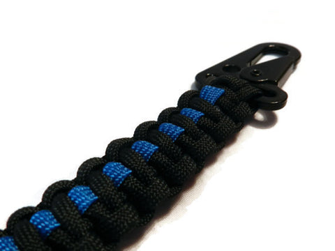 Police Officers Paracord Rope Keychain with a HK Style Clip