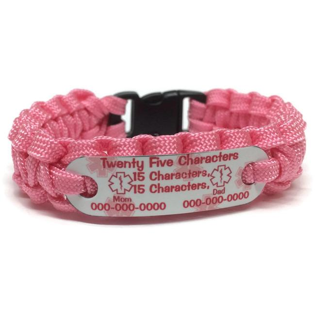 4 Line Custom Medical Alert Bracelet for Kids