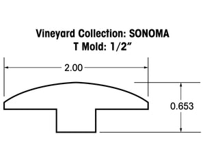 "1/2"" T-Mold Trims for the Vineyard Collection - Sonoma Series"