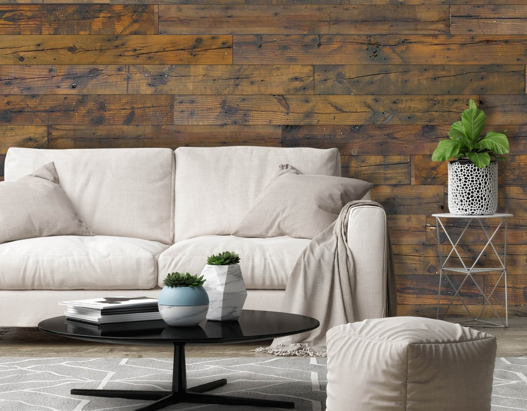 Brown Pine Authentic Reclaimed Barnwood Plank - Wallplanks